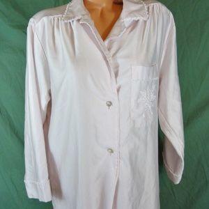 Christian Dior Pink Prairie Long Nightgown Medium